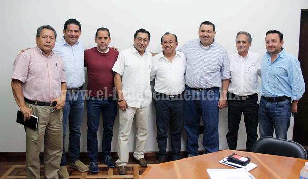 Alcalde de Zamora sostuvo reunión con personal de la CONADE para analizar avance de obras en áreas deportivas