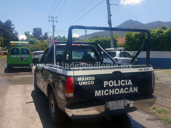 Dos lesionados tras ser baleados en Tangancícuaro