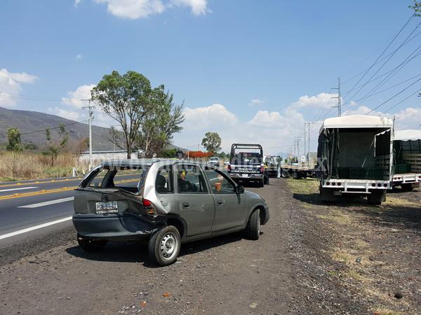 Carambola en la Zamora – Tangancícuaro deja cuantiosos daños materiales