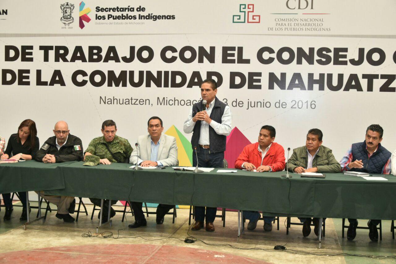 Sostiene Gobernador reunión con integrantes del Concejo Ciudadano de Nahuatzen