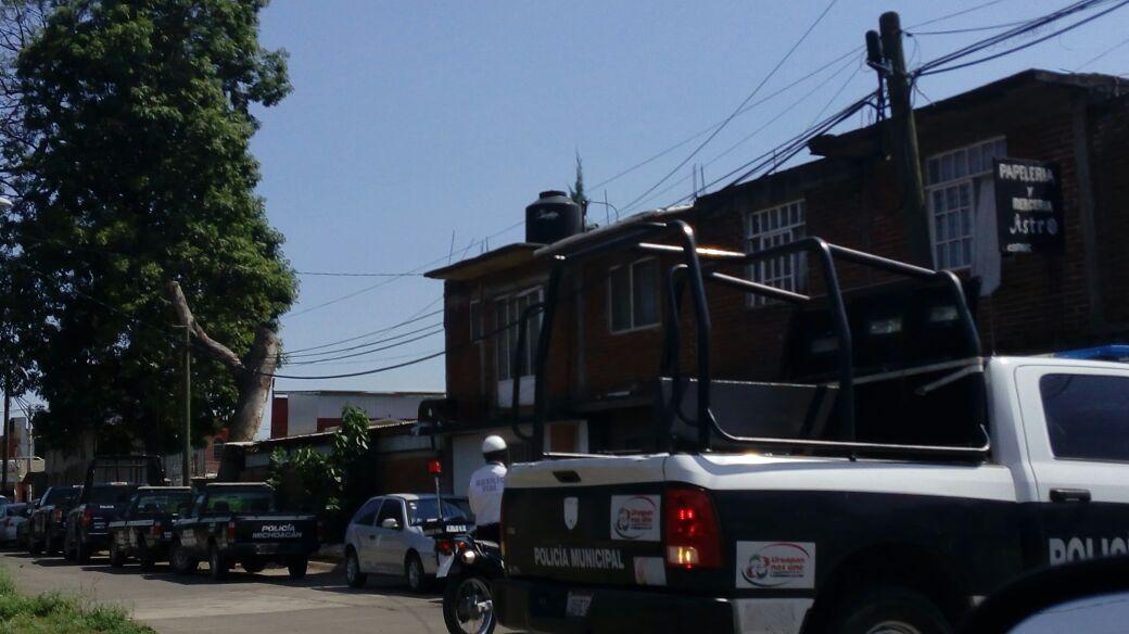 Realizan revista de armamento en Uruapan y se genera confusión entre ex rurales hoy estatales