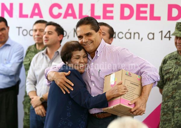 Tendrá Tocumbo estabilidad, paz y seguridad: Silvano Aureoles