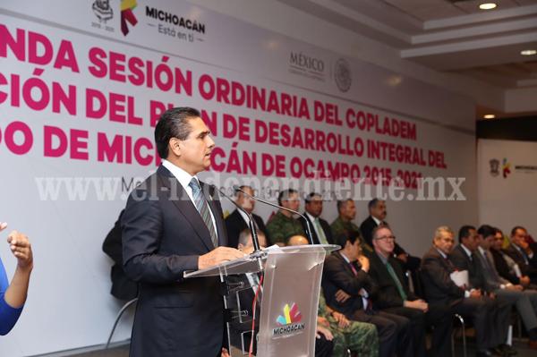 Presentación del Plan de Desarrollo Integral del Estado de Michoacán de Ocampo 2015-2021