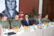 Revisa GCM estrategias regionales de seguridad en Michoacán