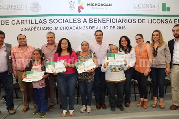 Continúa incremento de beneficiarios de programas sociales en Michoacán