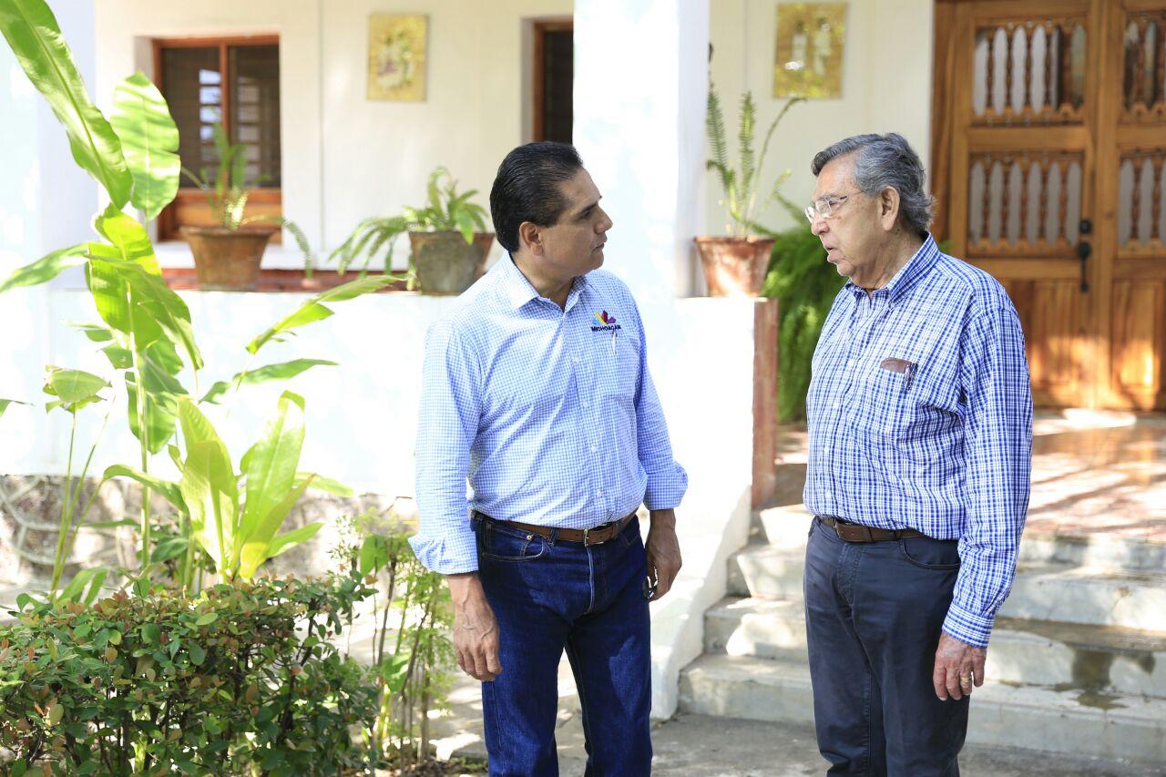 Se reúne Gobernador con Cuauhtémoc Cárdenas en Apatzingán