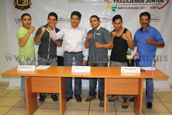 """Presentan """"Función de Box"""" en Jacona a realizar el próximo sábado"""