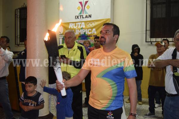 Ixtlán recibió el Fuego Olímpico