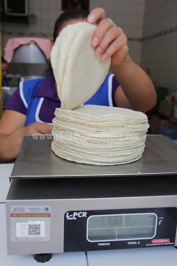 Kilo de tortillas llegó a los 15 pesos