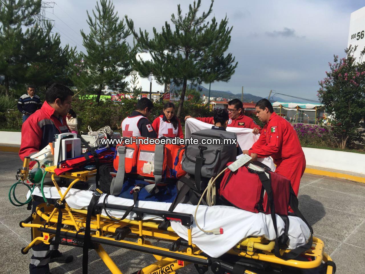 Trasladan a la Ciudad de México a 4 de los 9 paramédicos de la CR heridos en accidente