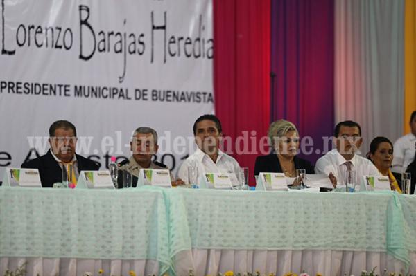 Silvano Aureoles ratifica su respaldo a Buenavista Tomatlán para preservar la seguridad y paz