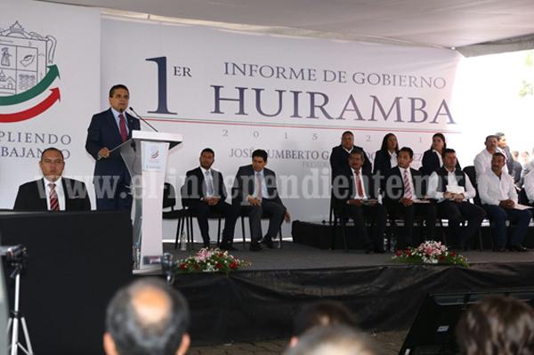 Detonaremos el desarrollo de Huiramba: Silvano Aureoles