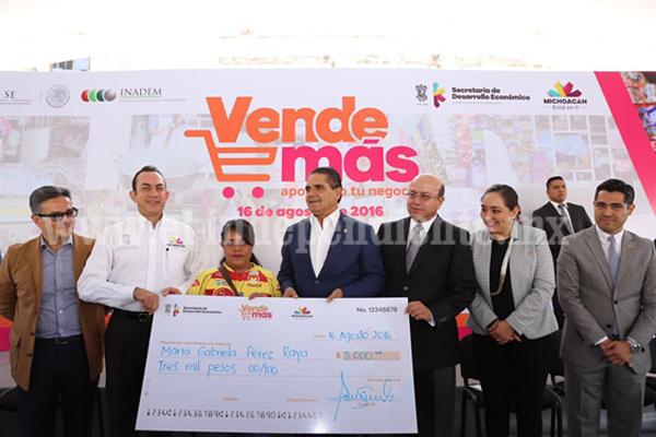 Arranca Gobernador Programa Vende más, apoyos para pequeños negocios