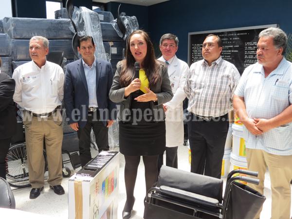 Fortalecen equipamiento y mobiliario en Hospital Regional de Zamora
