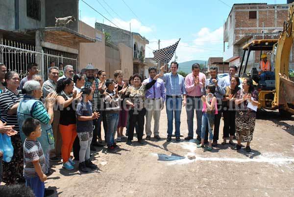Arrancan obras en Jacona por casi 4 millones de pesos