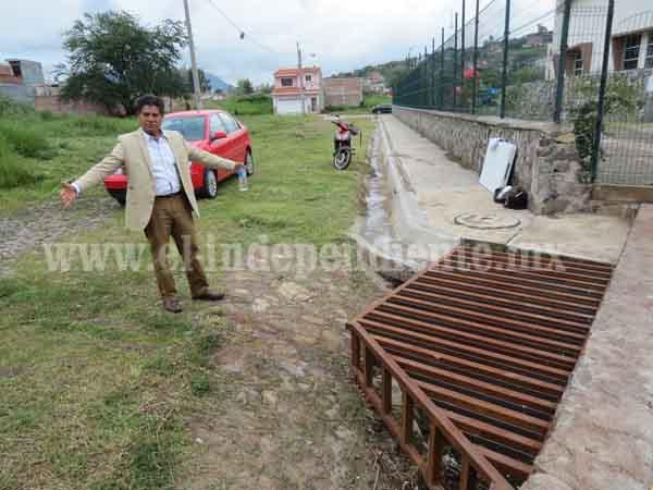Construcción de canal en CEDECO en Mirador de San Pablo evitará inundaciones