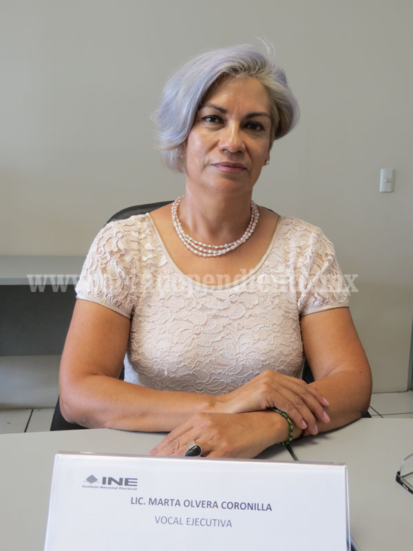 Marta Angélica Olvera, nueva vocal ejecutiva de la junta distrital 05  del INE