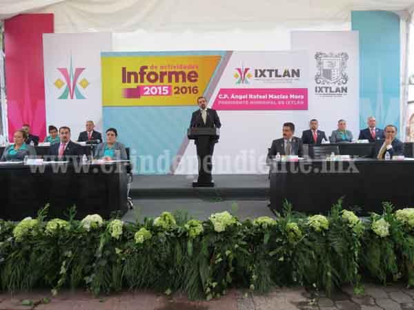 Ejercen más de 20 mdp en obras y acciones en Ixtlán