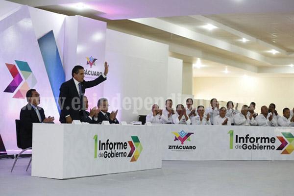 Asiste Gobernador a Primer Informe del presidente municipal de Zitácuaro