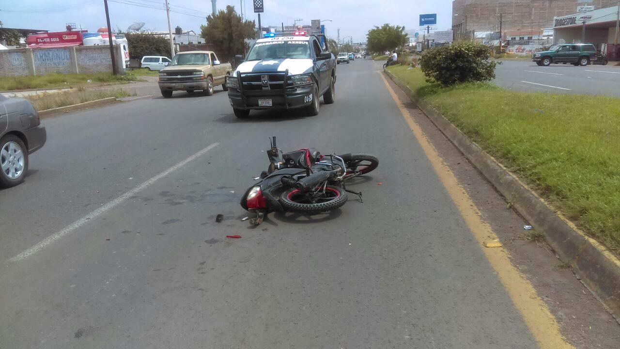Se accidenta motociclista en el Boulevard Lázaro Cárdenas de Sahuayo