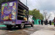 Normalistas incendian camioneta de Sonrics, en Morelia