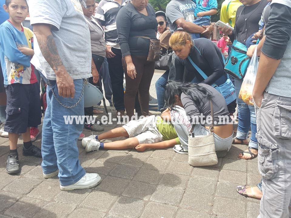 Niño es atropellado en la colonia El Valle de Zamora