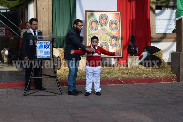 Conmemoran en Tangancícuaro Gesta Heroica de los Niños Héroes