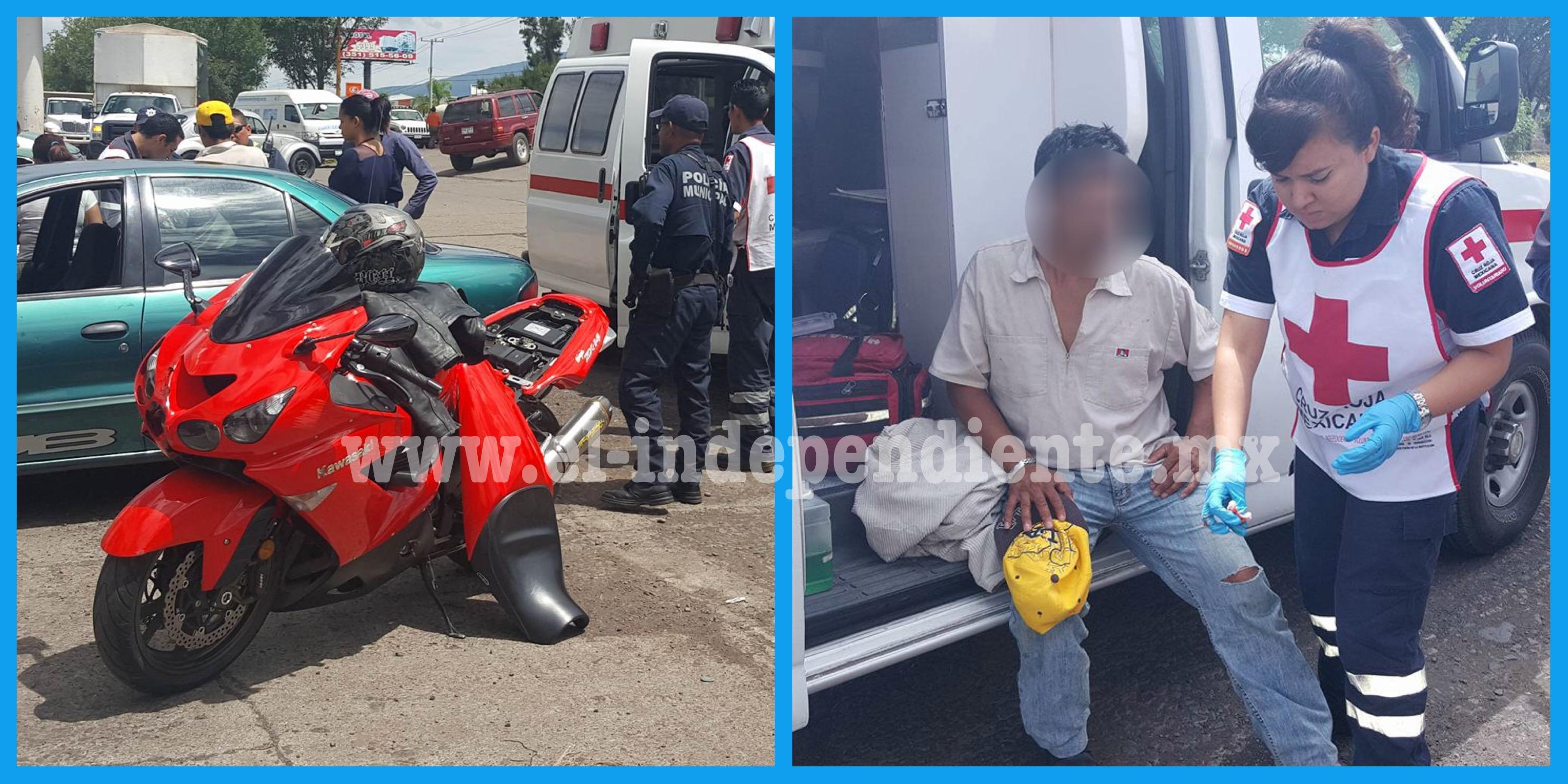 Ciclista es golpeado por motocicleta en Zamora