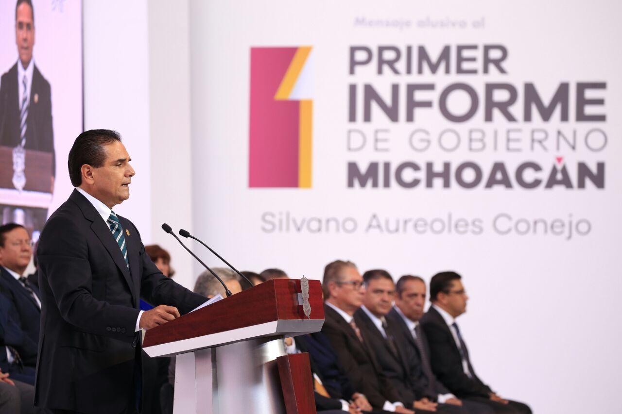 Arrancó Primer Informe de Silvano Aureoles, Gobernador de Michoacán