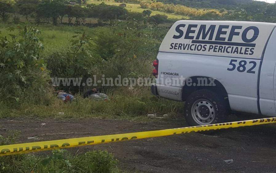 Encuentras dos hombres asesinados en la carretera Jacona - Los Reyes