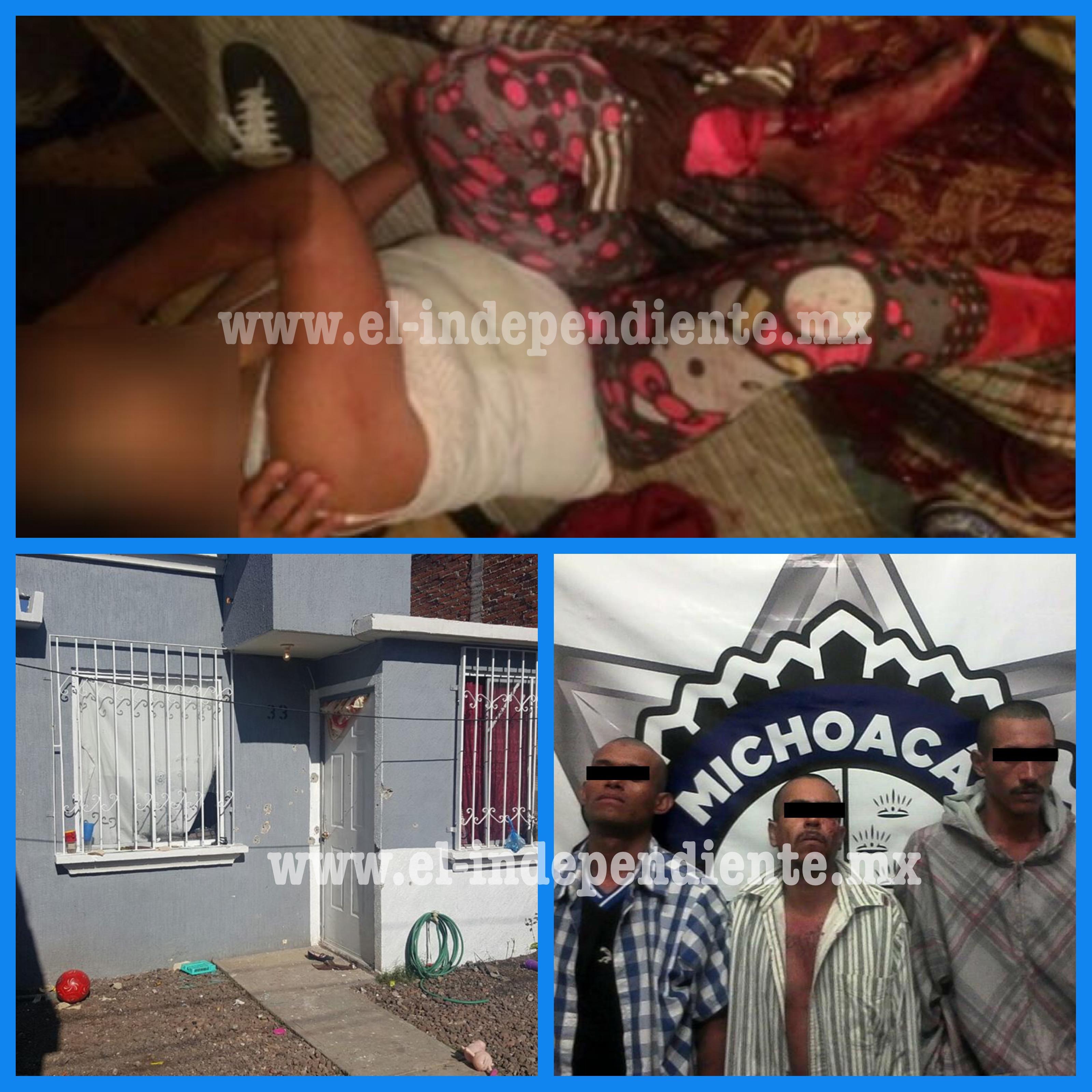 Una niña lesionada y tres empistolados requeridos tras balacera en Nuevo Ario