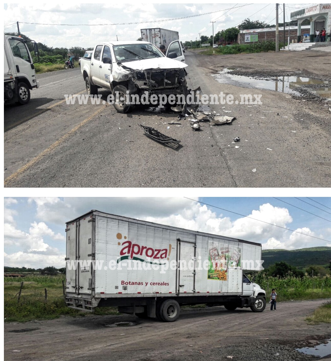 Cuantiosos daños materiales tras choque en Ixtlán