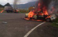 Sigue tensión en la Meseta; van 9 vehículos quemados