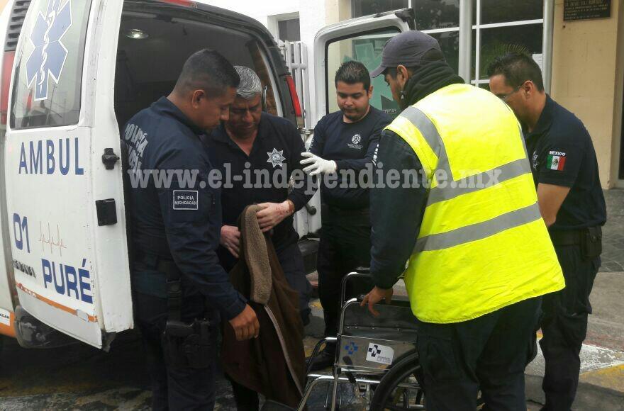 Libre el director de SP de Chilchota retenido por presuntos normalistas