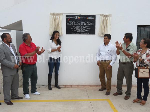 Inauguran el Centro Deportivo Balcones en Jacona