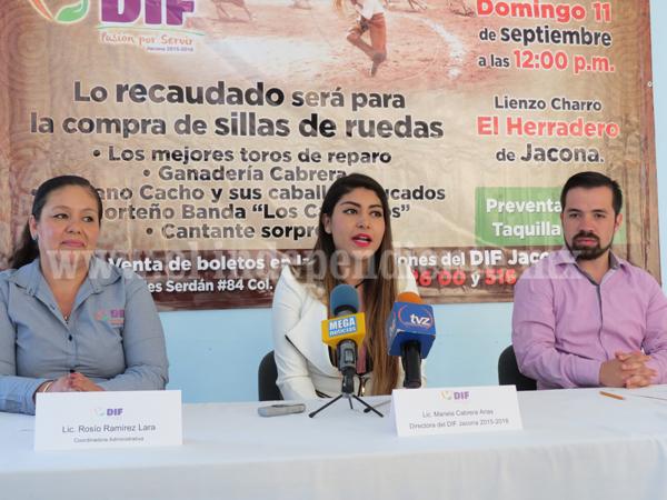 DIF Jacona busca recabar fondos para apoyar a más personas con discapacidad