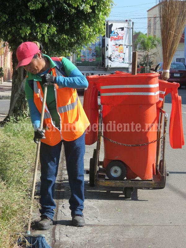 Habitantes califican  bueno el servicio ofrecido por Aseo Público