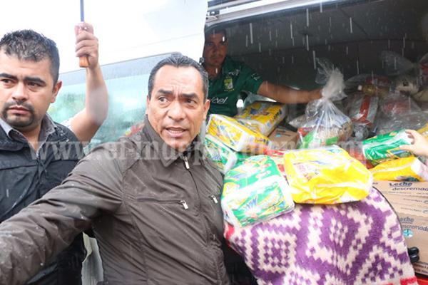 Entrega el Gobierno del Estado apoyos a damnificados en Uruapan