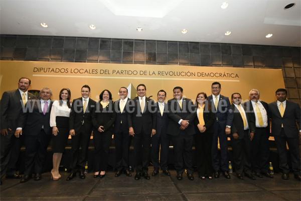 Diputados del PRD comprometidos con Michoacán, rinden primer informe