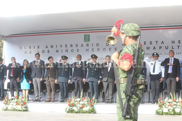 Asiste Silvano Aureoles a CLXIX aniversario de la Gesta Heroica de los Niños Héroes