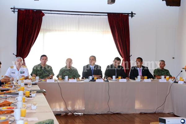 Fortalece Grupo de Coordinación, estrategia de seguridad en LC, Uruapan, Zamora y Morelia