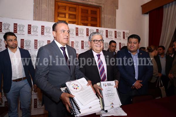 Entrega Ejecutivo Estatal proyecto de Paquete Fiscal 2017 al Poder Legislativo