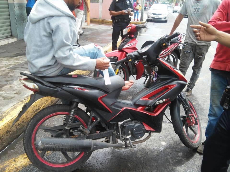 Un herido leve tras choque de motocicletas en Zamora
