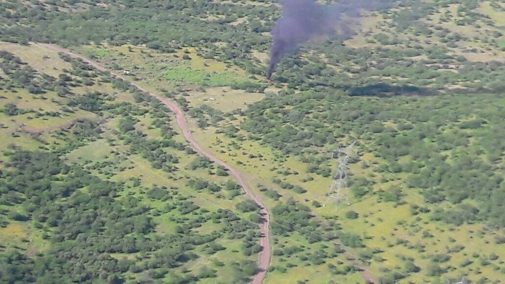 Tiran helicóptero de la PGJ en La Huacana, hay cuatro muertos y un lesionado