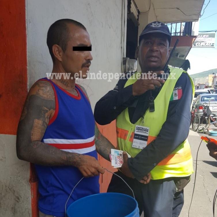Atrapan a presunto ladrón en Zamora
