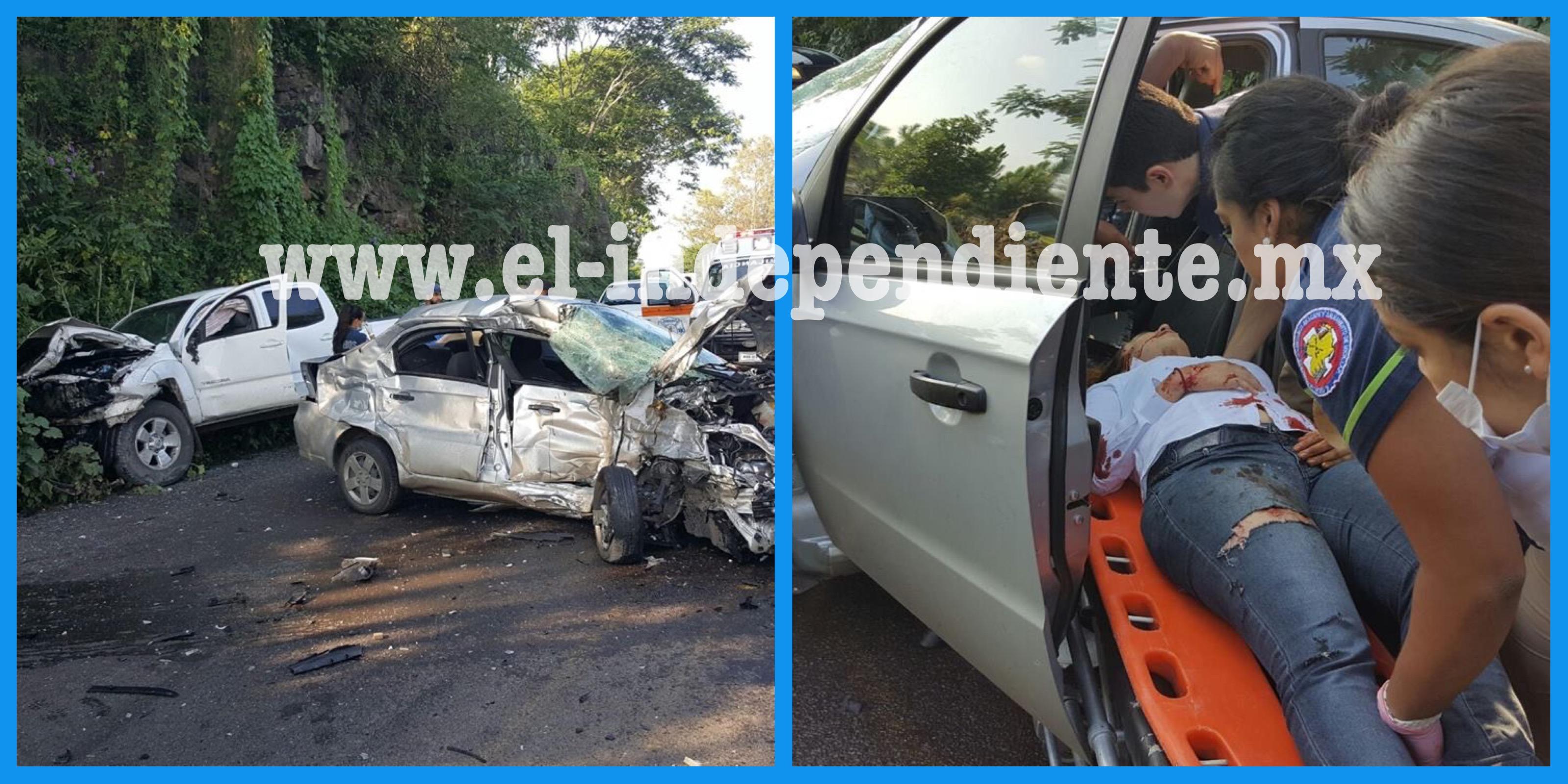 Aparatoso choque deja una mujer herida y cuantiosos daños materiales en Zamora