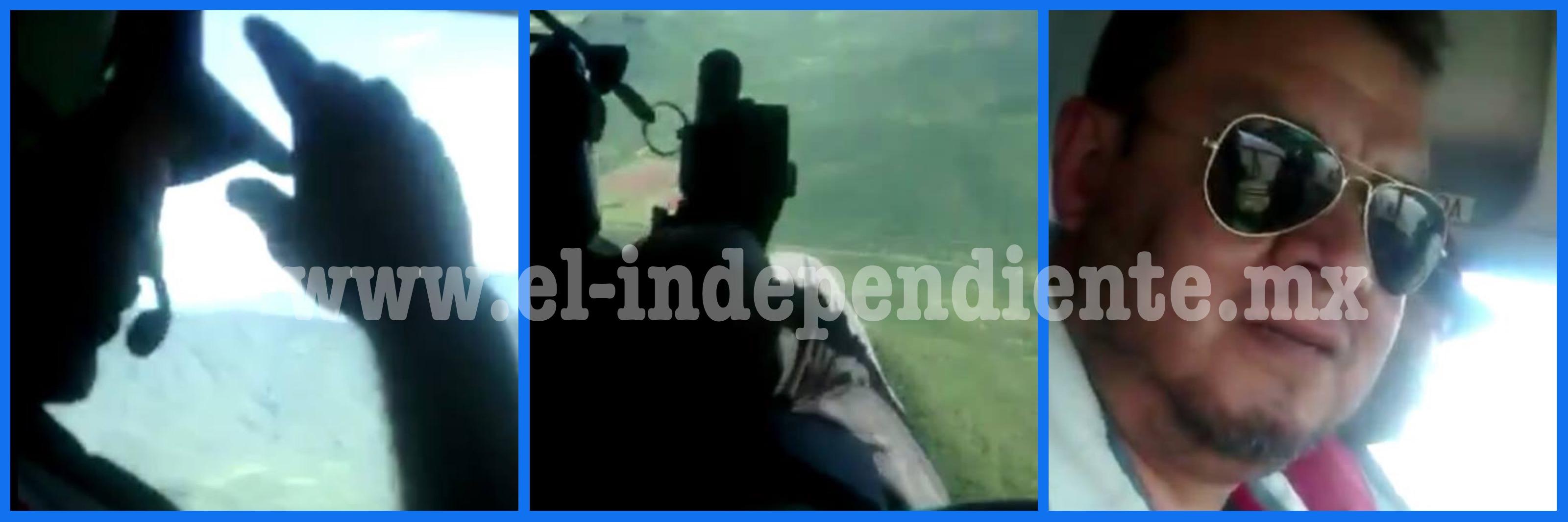 Vídeo inmortaliza los últimos momentos de los 5 agentes de la PGJE derribados en La Huacana