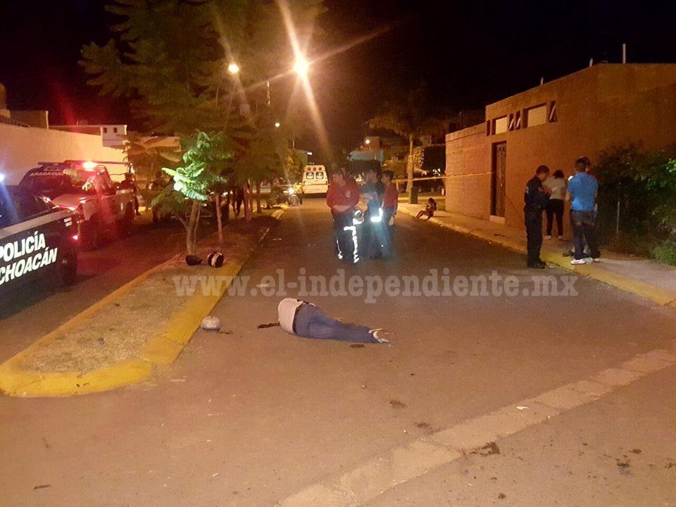 Motociclista muere tras fuerte choque en el Habitacional del Parque en Zamora