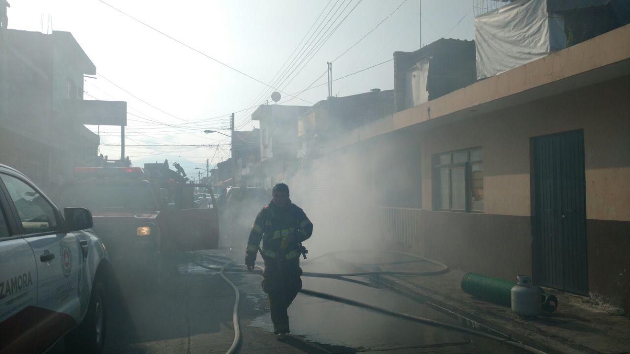 Una mujer y sus dos hijas intoxicadas durante incendio de una casa en Zamora