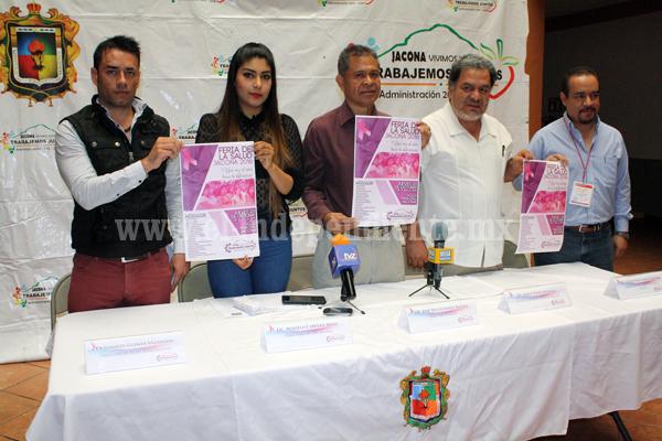 Realizarán Feria de la Salud, invitan a aprovechar servicios gratuitos